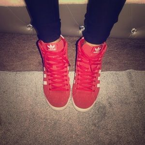 Red high top adidas!!